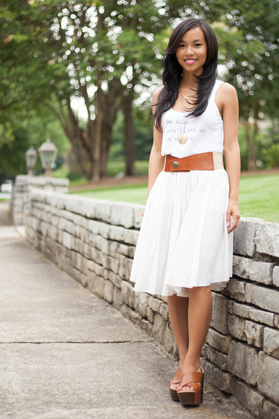 Kate Style Petite, Forever 21, Vintage Skirt, Loopsway, Shooz on 7